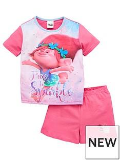 dreamworks-trolls-girls-trolls-free-to-sparkle-shortie-pjs-pink
