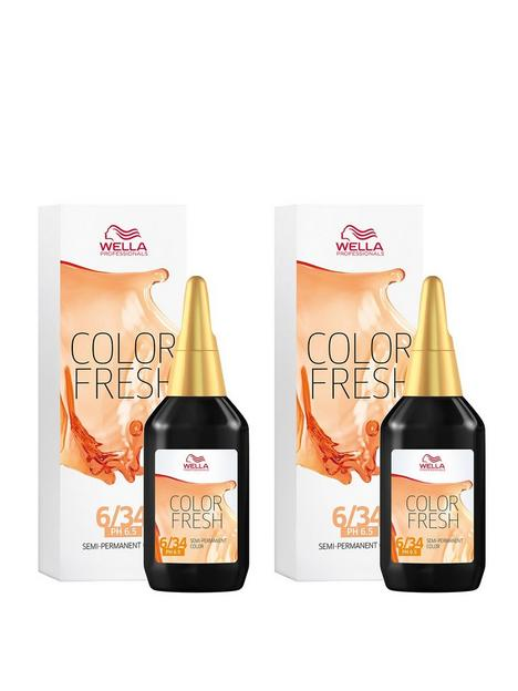 wella-wella-professionals-color-fresh-semi-permanent-colour-dark-gold-red-blonde-75ml-duo-pack