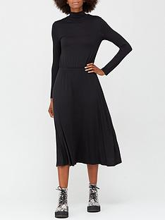v-by-very-long-sleeve-high-neck-jerseynbspmidi-dress-black