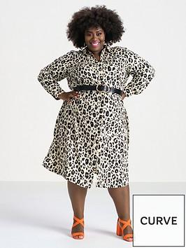 v-by-very-curve-printed-button-through-shirt-dress-animal