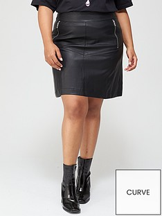 v-by-very-curve-pu-zip-detail-a-line-skirt-black