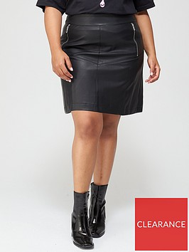 v-by-very-curve-pu-zip-detail-a-line-skirt-black