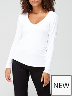 v-by-very-long-sleeve-vee-neck-t-shirt-white