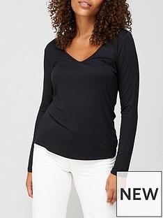 v-by-very-long-sleeve-vee-neck-t-shirt-black