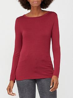 v-by-very-long-sleeve-crew-neck-t-shirt-burgundy