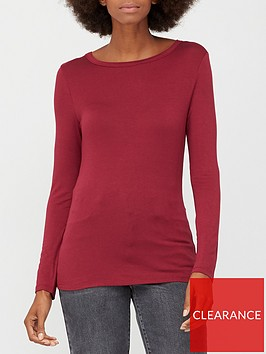 v-by-very-long-sleeve-crew-neck-t-shirt