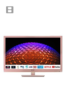 sharp-24bc0kr-24inch-hd-ready-led-smart-tv-with-freeview-rose-gold