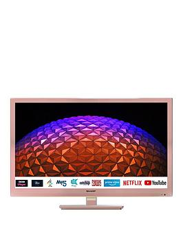 Sharp 24Bc0Kr 24 Inch, Hd Ready, Led, Smart Tv With Freeview - Rose Gold