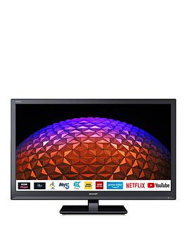 Sharp 24Bc0K 24 Inch, Hd Ready, Led, Smart Tv With Freeview Play - Black