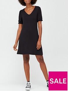 v-by-very-v-neck-fit-amp-flare-jersey-mini-dress-black
