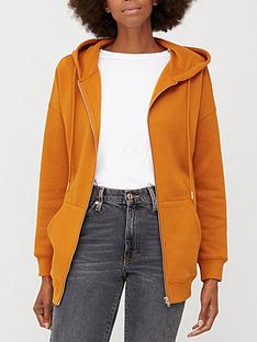 v-by-very-the-essential-oversized-zip-through-hoodie-orange