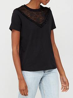 v-by-very-lace-chevron-insert-t-shirt-black