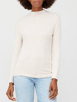 v-by-very-snit-pearl-turtle-neck-oatmeal