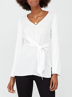 v-by-very-tie-waist-tunic-top-white