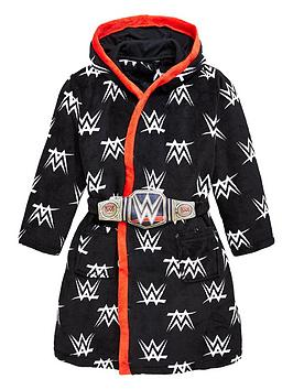 wwe-boys-wwe-dressing-gown-with-removable-belt-black