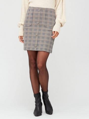 Size 8-18 Green Wallis Button A Line Skirt Work Office