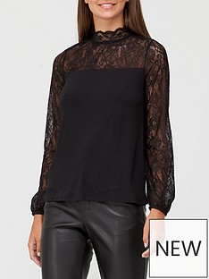 v-by-very-lace-insert-long-sleeve-top-black