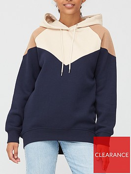 v-by-very-colour-block-chevron-hoodie-navy