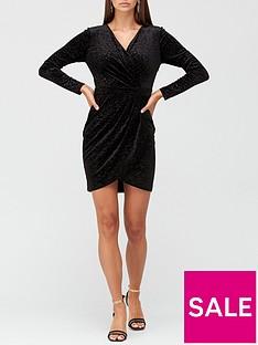 v-by-very-velvet-wrap-mini-dress-blackanimal