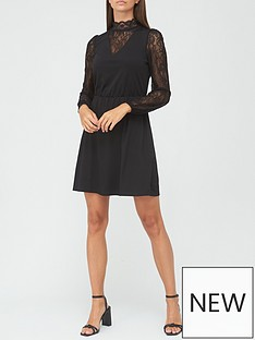 v-by-very-lace-insert-mini-dress-black