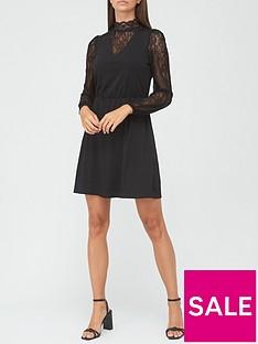 v-by-very-lace-insert-mini-dress-black