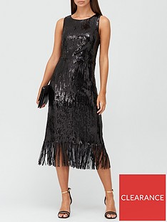 v-by-very-sleeveless-sequin-fringe-hem-midi-dress-black