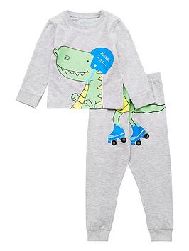v-by-very-boys-skating-dino-pj-set-grey-marl