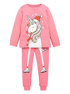 v-by-very-girls-christmas-skating-unicorn-pj-set-pink