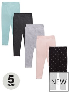 v-by-very-girls-5-pack-star-print-leggings-multi