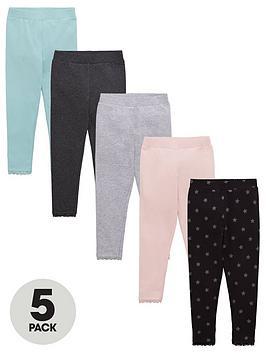 v-by-very-girls-5-pack-star-print-leggings-multi
