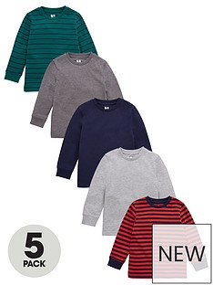 v-by-very-boys-5-pack-long-sleeve-cuff-t-shirts-multi