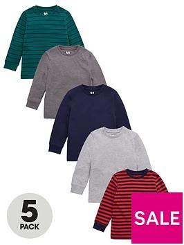 v-by-very-boys-5-pack-long-sleeve-cuff-t-shirts-multi