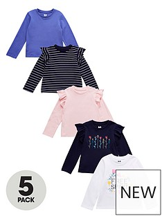 v-by-very-girls-5-pack-embroidered-flower-and-stripe-long-sleeve-t-shirts-multi
