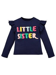 v-by-very-girls-little-sister-t-shirt-navy