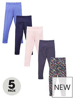 v-by-very-girls-5-pack-print-and-floral-leggings-multi