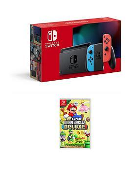Nintendo Switch Nintendo Switch Neon Console With New Super Mario Bros U Deluxe