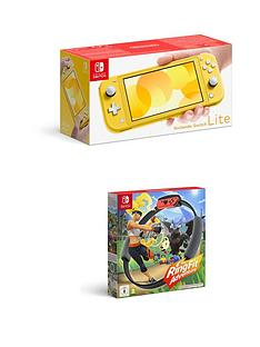 nintendo-switch-lite-console-with-ringnbspfit-adventure