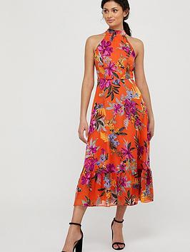 monsoon-trixie-burnout-tiered-dress-orange