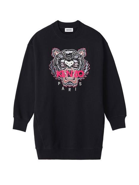 kenzo-classic-tigernbspsweatshirt-dress-black