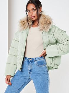 missguided-missguidednbspultimate-fauxnbspfur-collar-padded-jacket-mint