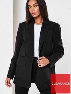 missguided-boyfriend-blazer-coat-black
