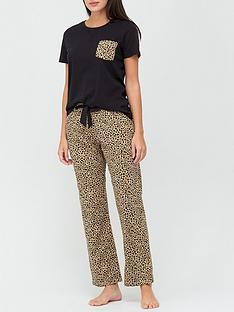 v-by-very-animal-pocket-jersey-pj-set-animal-print