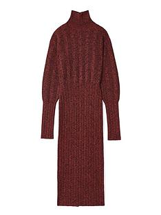 kenzo-textured-knit-long-dress-burgundy
