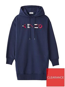 kenzo-logo-hoodie-dress-navy