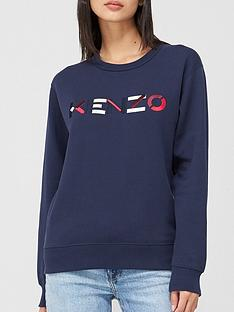 kenzo-classic-fit-knit-logo-sweater-navy