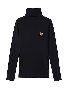 kenzo-tiger-knit-turtleneck-jumper-black