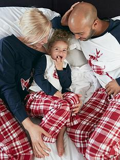 v-by-very-unisex-family-christmas-reindeer-check-pj-set-red