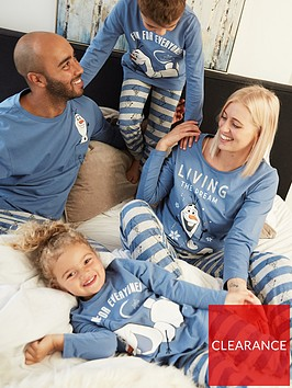 disney-frozen-unisex-kids-disney-frozen-olaf-family-pj-set-blue