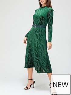 v-by-very-devore-belted-midi-dressnbsp--greennbsp