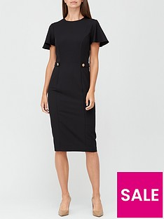 v-by-very-confident-curvenbspbutton-waist-midi-dress-black